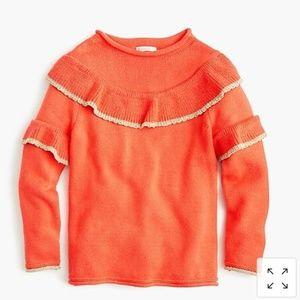 Crewcuts Rolled Hem Ruffled Neck Sweater K5749